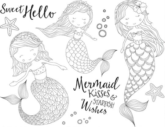 FSJ Mermaid Kisses Stamp