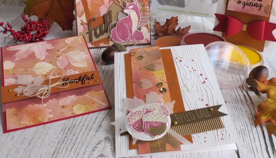 Fun Stampers Journey Fall For PanPastel Proejct, Hello Fall, FSJ Creative Team, Fall Cardmarking