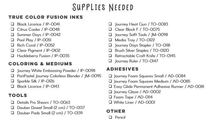 fun stampers journey September bloom box_supply list