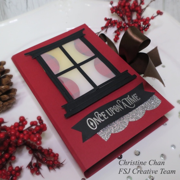 FSJ, Fun Stampers Journey, Once Upon A Time, 3d Project, Christmas Craft, Spellbinders, Love of Sparkles, FSJ Creative Team