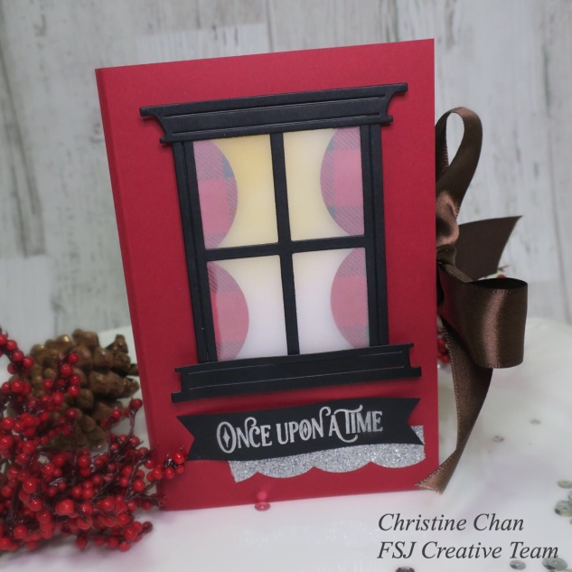 FSJ, Fun Stampers Journey, Once Upon A Time, 3d Project, Christmas Craft, Spellbinders, Love of Sparkles, FSJ Creative Team, Shadow Box, Scenic Tray, DIY Story Book Gift
