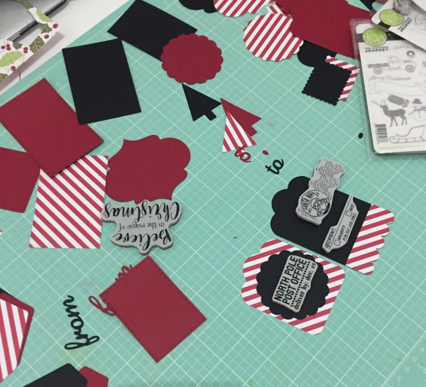 FSJ Tag making, DIY, christmas tag, fun stamper journey